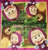 10767 Masha and the Bear Serviette