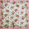 10801 Bleached Summer Blossom rose Serviette