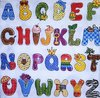 10822 Colourful Alphabet Serviette