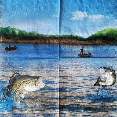 10886 Gone Fishin Serviette