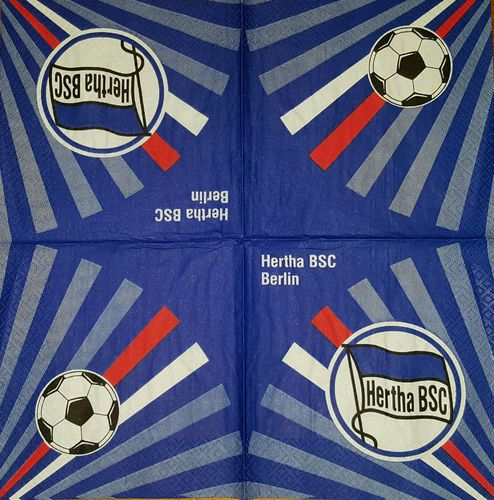 11279 Hertha BSC Berlin Fußballverein Serviette