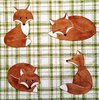 11305 Foxes Serviette