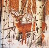 11468 Deer in Forest Serviette