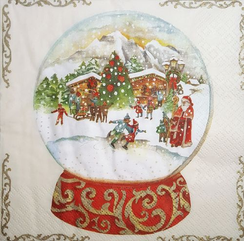 11485 Snow Globe Serviette