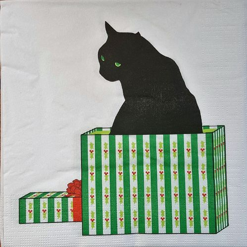 11667 Black Cat Cadeau Serviette