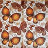 11722 Ethnic Butterflies Orange Serviette