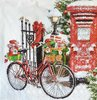 11766 Bike in Snow Serviette