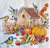 11798 Autumn Birdhouse Serviette