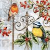 12053 Birds & Holly Serviette