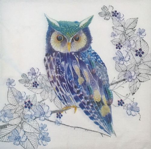 12428 Blue Owl Serviette