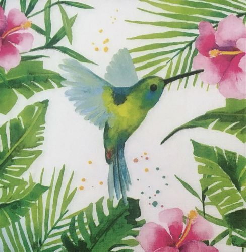 12429 Tropical Hummingbird Serviette