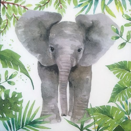 12433 Tropical Elephant Serviette