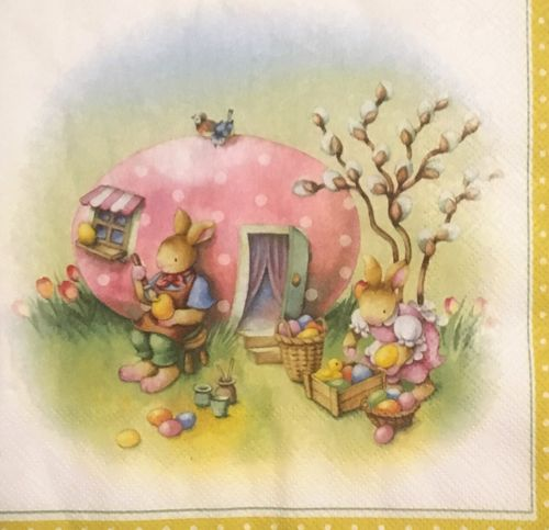 12443 Easter Egg House Serviette