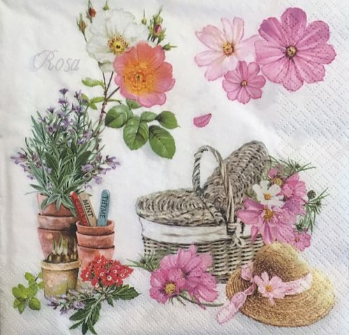 12452 Romantic Garden Serviette