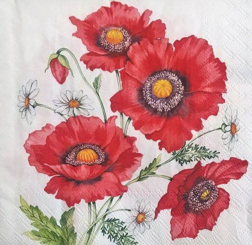 12453 Poppy Scene Serviette