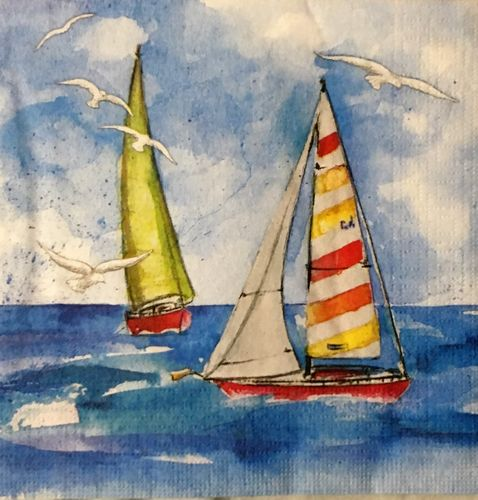 12458 Sailing Serviette